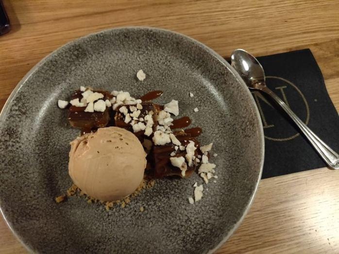 Caramel shortcake als dessert
